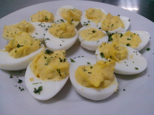 Frech cuisine: Deviled eggs