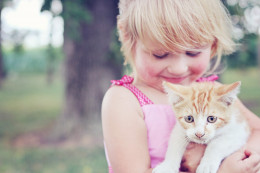 Pets and kids are a natural combination.