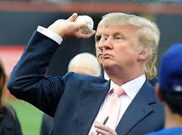 Trump is always asked to throw-out the first all at baseball games.