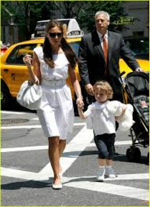 Trump's pretty wife, Melanie, and preppy-dressed son, Barron.