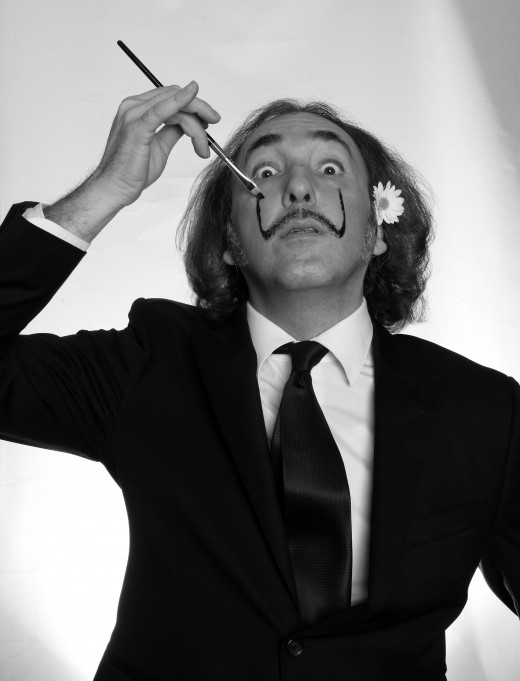 DIY - Painting yourself to become Dali.