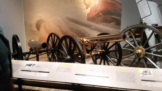 I don't usually like to put weapons on my blog, but these cannons are some of the oldest ones still around today! These cannons were from 1812... so they're over 200 years old!