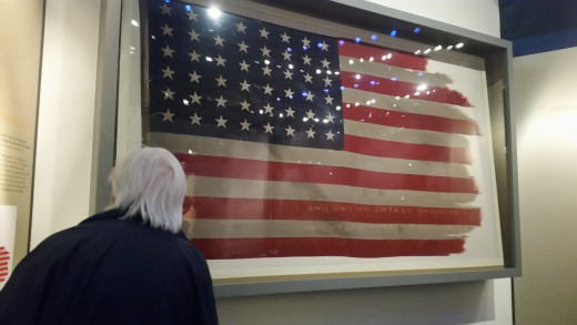 Flags play an important part in the daily life of a soldier. They often are a symbol of a safe place where soldiers and people can find shelter, medicine and safety. This flag was raised over Iwo Jima in Japan.... remember that for tomorrow's blog!!!