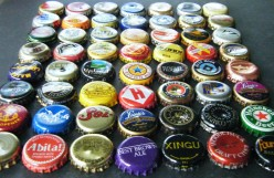 Beer bottle caps; reuse to amuse!