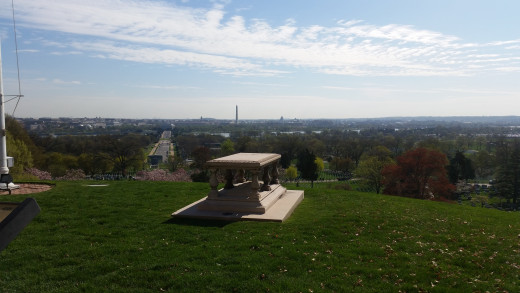 The view from Arlington House, the one that belonged to Robert E. Lee