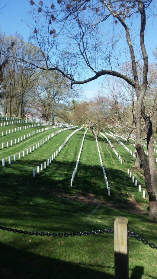 All of the markers have to be in perfect rows, from one end of Arlington to the other.