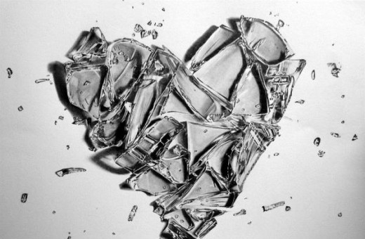 A heart is an absolute. When broken, they cannt be repaired enough to be the same.