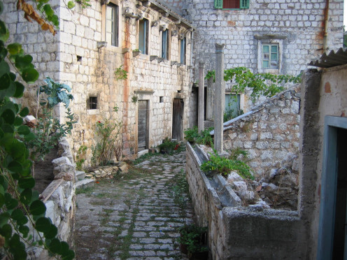 The streets of Lastovo.