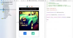 Share an image on Facebook & Twitter in Objective-C