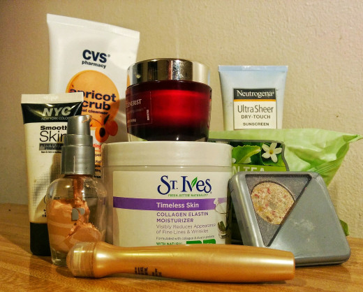 My previous collection of facial care products