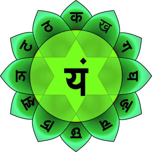 The symbol of the Heart Chakra - Anahata. The Nightingale song resonates with the frequency of a healthy (balanced) Anahata. That is why it is experienced as so beautiful.