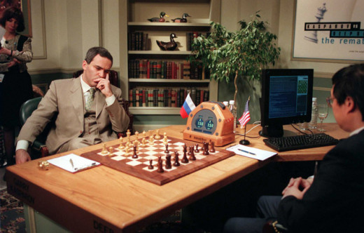 Here Deep Blue beats a human component at chess, marking a milestone for AI (1997); see the game in action in the video below.