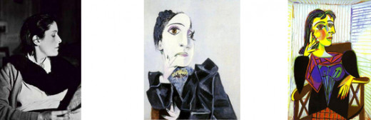 Figure 2: Dora Maar Photograph (Source: Bidermanas 1946) Figure 3: 'Dora Maar with Green Fingernails' (Source: Picasso 1936) Figure 4: 'Portrait of Dora Maar' (Source: Picasso 1937)
