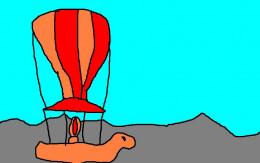 In Jules Verne's day the balloon was under development.