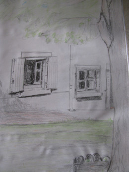 Sketch of house in France