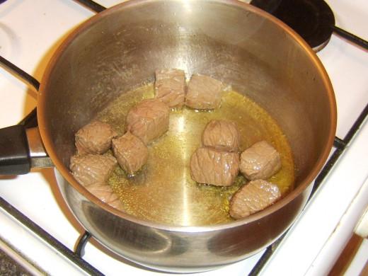 Browned braising steak