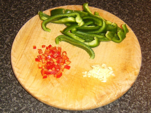 Chopped vegetables for stew