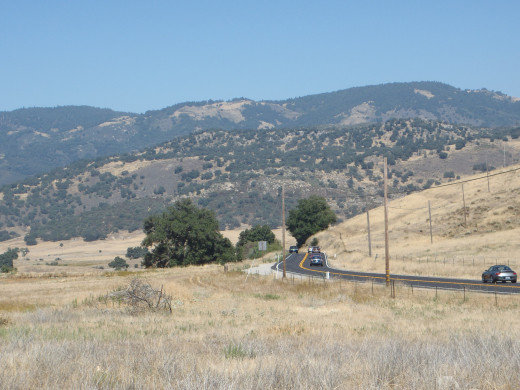 Looking east along SR 78 - the road to Julian showing Volcan Mountain in the background.