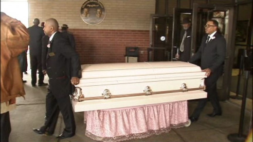 The casket of 13-year-old Stoni