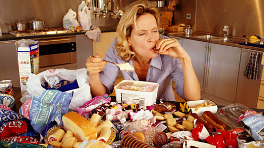 Individuals who struggle with emotional or stress eating are often not actually hungry in the ordinary sense when they eat.