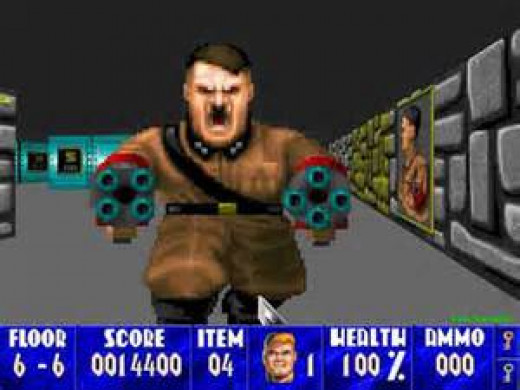 Wolfenstein features Hitler as the final boss that you must eliminate in Nazi Germany in order to win the game.