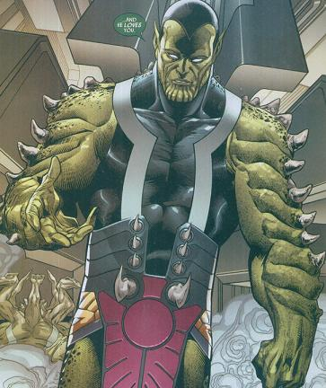 Kly'bn is the last living member of the Skrull Eternals.