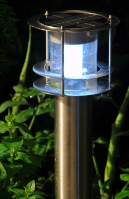"""Solar Garden Lamp At Night"" by franky242"
