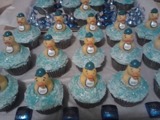 Baby-Boy Shower Cupcakes