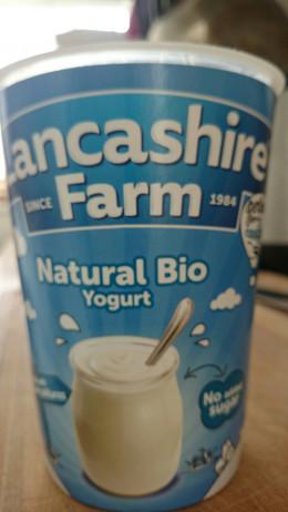 Local natural bio yoghurt
