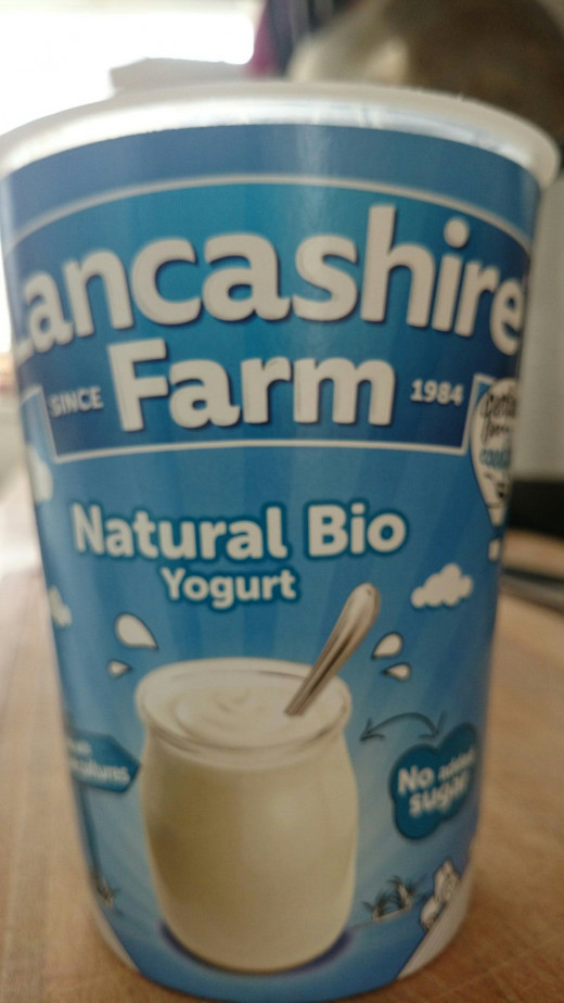 Local natural bio yoghurt