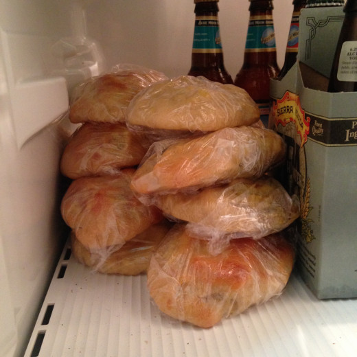 A fridge filled with breakfast to go! A beautiful sight indeed.