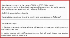 Adsense - Moving to Another Country