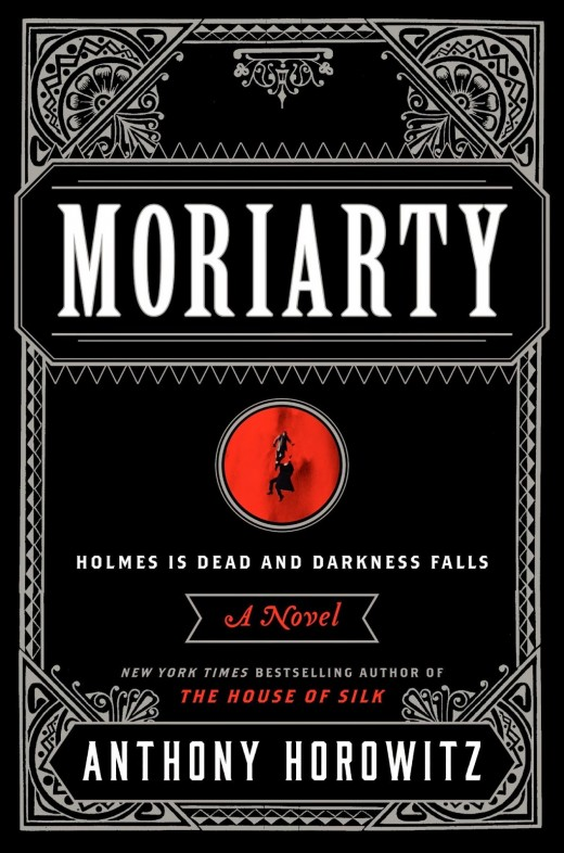Jacket for hardcover edition of _Moriarty_ by Anthony Horowitz, published by Harper (2014)