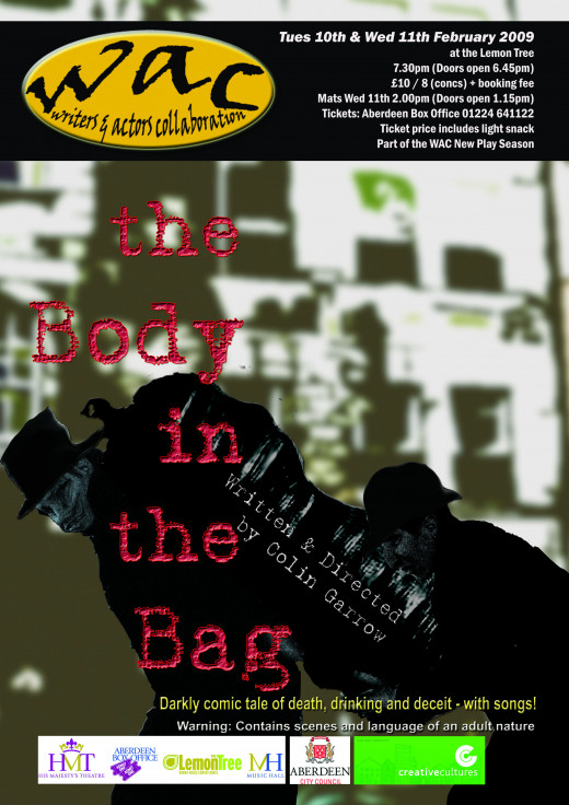Poster for The Body in the Bag by Colin Garrow