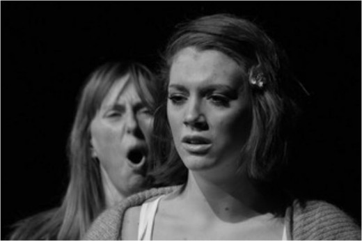 Louise Ballantyne and Rebecca Wilkie in Burning Ring of Fire, written by Euan MacPherson.