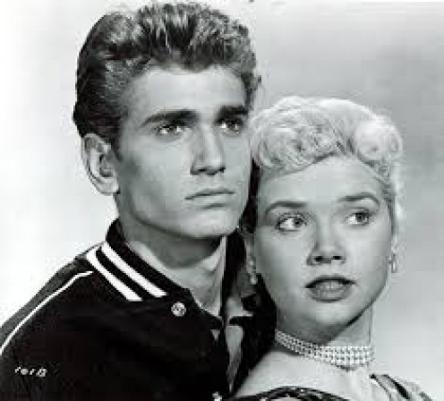 "The late Michael Landon played a clean-cut teen in his big terror hit of 1957, ""I Was a Teenage Werewolf."""