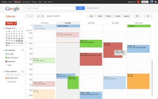 Google Calender = Organisational awesomeness