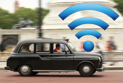London cabbies offer free wi-fi. Source: http://media.gizmodo.co.uk/