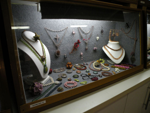 This stunning beading showcase display had a wide range of 2D and 3D beading projects.