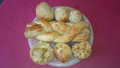 The best ever herby yeast rolls