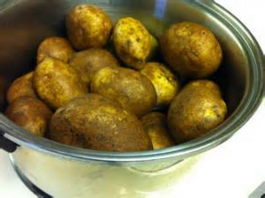 Boil potatoes 10-15 minutes before baking