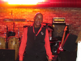Jerry Blake, is plays soprano, alto sax, flute and does background vocals.