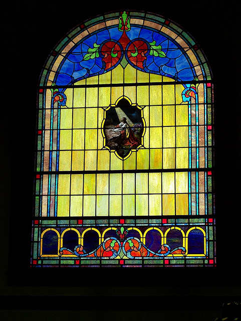 Stained-Glass Window Donated by my Great-Great Grandfather.