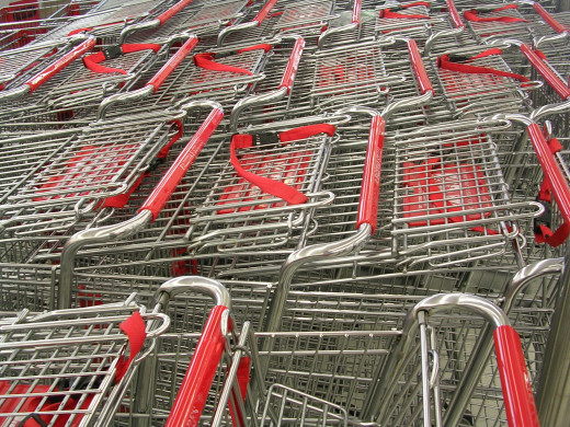 Looking in people's carts while they're shopping not only infringes on their privacy,  it's just plain creepy.
