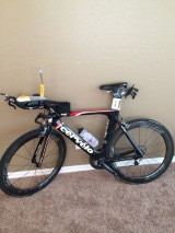 To gain speed in the cycling portion of the race, many invest in a tri-bike.