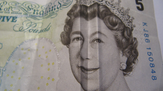 Smiling £ bill