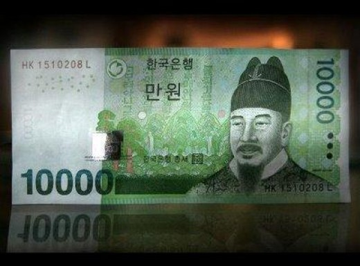 10,000 KRW = $8.82 US at the time of publishing.