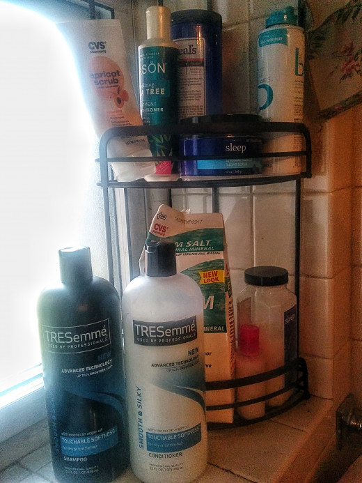 too many products in the shower