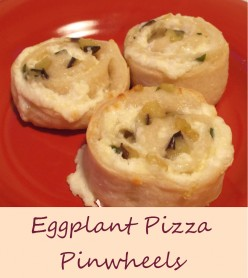 Eggplant Pizza Pinwheels Recipe