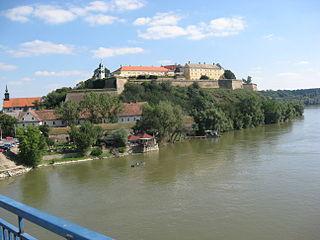 Petrovaradin Fortress on the Danube Riber in Novi Sad